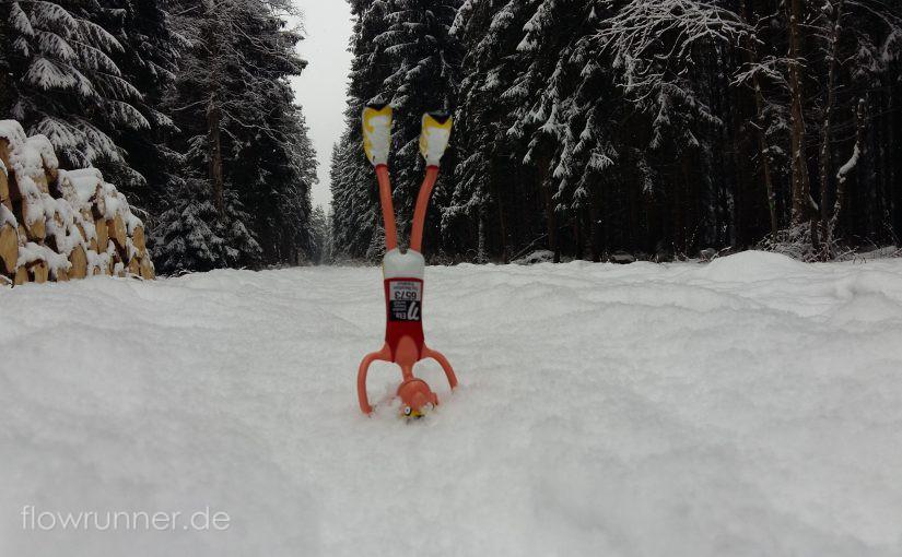 Umkehrhaltung im Schnee