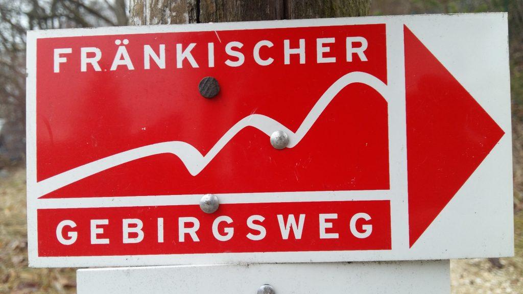 Markierung Fränkischer Gebirgsweg
